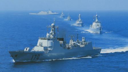 5艘军舰刚现身,就遭庞然大舰尾随,美为盟友出头,呼吁大国冷静
