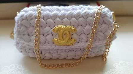 白羊材料包店手工DIY钩针毛线编织泫雅小香风布条包小红书同款