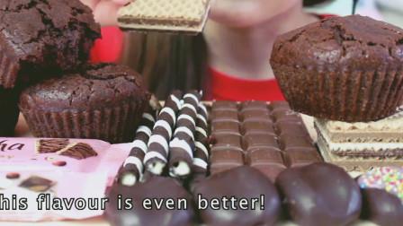 巧克力派对慕尼黑、榛子巧克力棒、夹心饼干, 想吃!