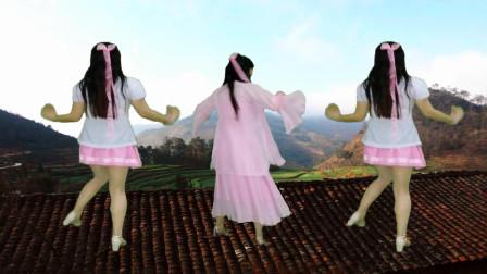 古装衣服挑战现代衣服版本广场舞《前世今生》白娘子