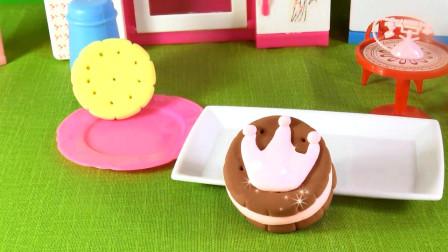 卡通拼图粘土拼装 第一季 少儿卡通粘土玩具 手工制作巧克力草莓夹心饼干