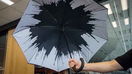 小岛秀夫晒《死亡搁浅》雨伞 内面泼墨花纹酷炫