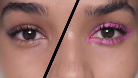 死亡芭比粉色的眼线,也就Dior迪奥化妆师敢化了