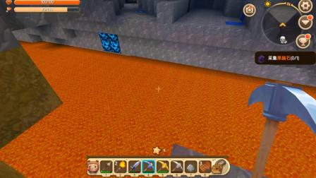 迷你世界故事35:矿洞深处发现一条岩浆河,我要想办法游过去!