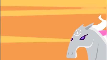 芭比:芭比看见墙壁上的飞马,询问马的来源,传说啊