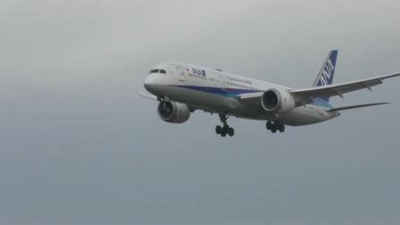 全日空波音787梦想客机降落成田国际机场