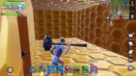 """堡垒前线娱乐:把""""埃及金字塔""""建在海拔1000米的地方。里面有个迷宫!"""