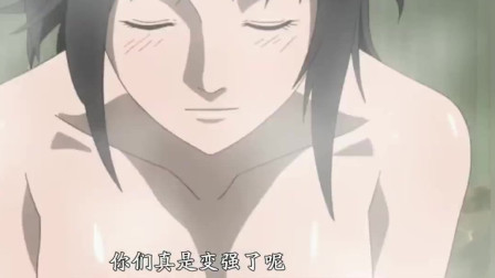 火影忍者:雏田和红老师泡温泉,看到红老师的身材,雏田好羡慕!