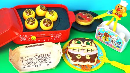 面包超人厨房章鱼小丸子炒面锅过家家儿童玩具