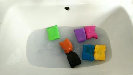 挑战水池粘土洗泥!12色粘土洗星空泥,无硼砂,洗出一池''恶魔''
