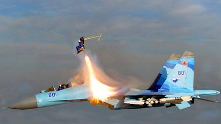 美国军官坐战机返航 误碰一装置引发巨响 飞行员回头一脸懵呆