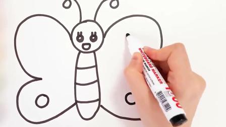 儿童启蒙早教:教你如何画蝴蝶,幼儿简笔画