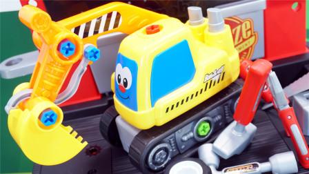修理汽车的维修台过家家玩具
