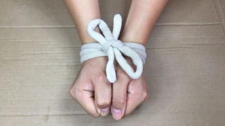 不解开绳结,如何才能瞬间逃脱?这方法教学后我服了