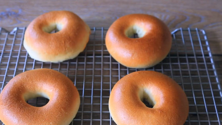 好又好看的贝果面包,自己在家就能做