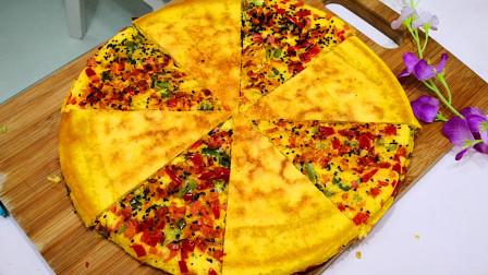 玉米面这种做法火了,不揉面,不擀面,开水一烫,比披萨还好吃