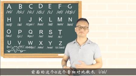 1、不用参加任何培训班,看完这个视频,26个英文字母读法全掌握