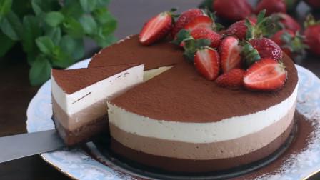 教你在家就能做好吃的慕斯蛋糕,还是巧克力味的!教程免费拿去!