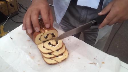 牛人发明超声波菜刀,依靠震动切割,切蛋糕卷不沾奶油