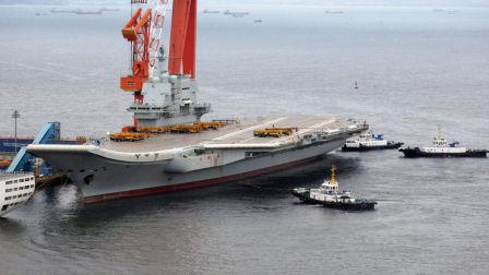 美卫星偷拍我船厂 8万吨航母令其惊愕