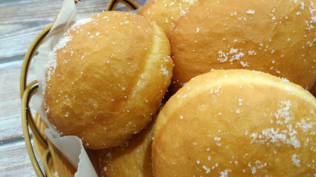 教你在家制作老式油炸豆沙小面包,松软香甜,不用烤箱,老人孩子都爱吃