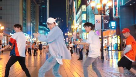 网红不齐舞团的小哥哥们,大街上大秀帅气舞姿,迷死人的节奏