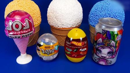 魔法彩泥冰淇淋甜筒:奇趣蛋惊喜,蝴蝶仙子