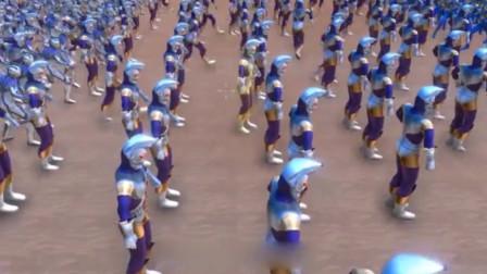 1万雷杰多奥特曼联合1万阿古茹,挑战1万个奥特之王,结果如何?