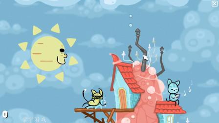 休闲小游戏《蘑菇猫》 冬天来临 给小猫咪戴上帽子抵御严寒