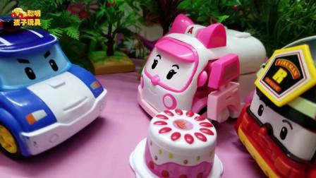 《变形警车珀利》小故事:罗伊买回来的蛋糕,原来是假的!