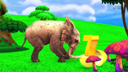 与农场和野生动物一起学习数字惊喜蛋农场土地幼儿动物动画片