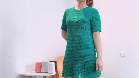 第299那条绿裙子钩织教程(1)小辛娜娜钩针教程钩针套头蕾丝裙子