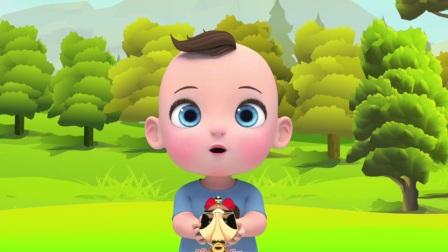 儿童卡通片:小萌娃的冰淇淋被大灰狼抢走了