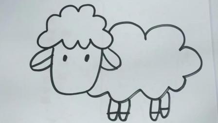 幼儿园简笔画教程,小绵羊居然这么简单,赶紧Get吧