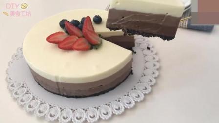 「烘焙教程」教你做巧克力草莓芝士蛋糕,丝滑口感