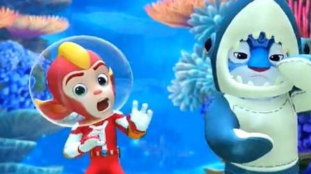 宇宙护卫队:闪电和风暴一起在海底跳舞,不料竟然会发生这种事!