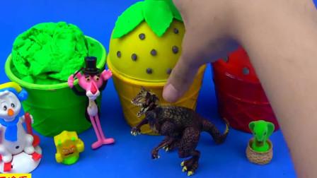 亲子趣味草莓冰激凌桶寻宝大作战!色彩认知助萌宝识色与数字1-7