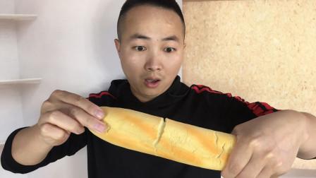 魔术揭秘:空手变出大面包,面包在哪里?方法特简单