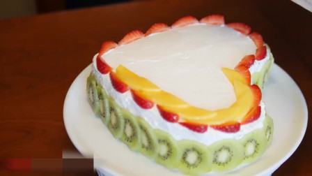 如何用切片水果装饰蛋糕, 特别好看