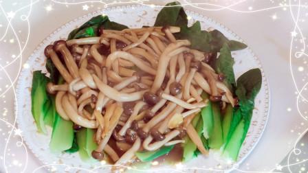 蟹味菇炒小白菜怎么做才好吃?营养健康的小青菜!