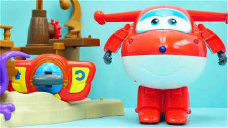 超级飞侠遥控版乐迪亲子玩具变形机器人