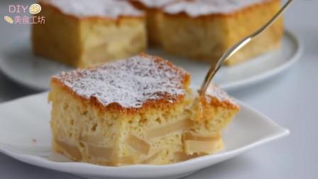 「烘焙教程」无油脂苹果蛋糕,减肥人士的福音