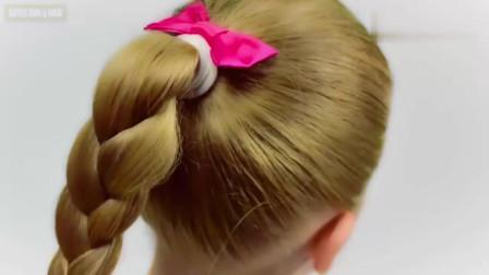 几款简单又好看的马尾辫子发型,编法也不是很难,学起来吧