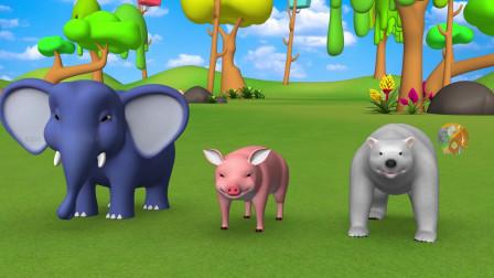 有趣的猴子玩字母游戏来学习动物的名字和拼写的孩子动物的孩子