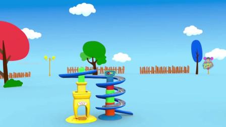 超级宝宝和男孩乐趣玩滚轮玩具集学习儿童的形状和颜色3儿童形状