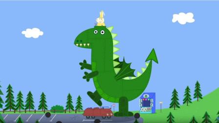 小猪佩奇:佩奇乔治在森林里,遇见了恐龙先生,还和它成为了朋友