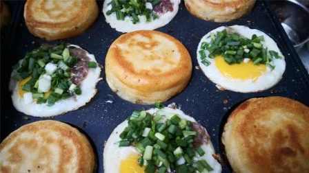 大妈摆摊数月圈粉无数!迷你中式汉堡,鸡蛋与鲜肉的完美合体