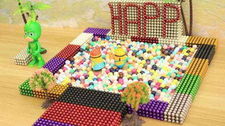 创意巴克球 飞壁侠在玩海洋球