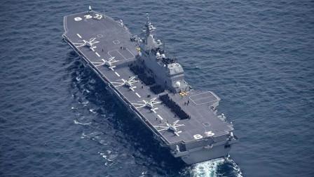 """日本 """"出云""""号直升机航母停靠金兰湾"""
