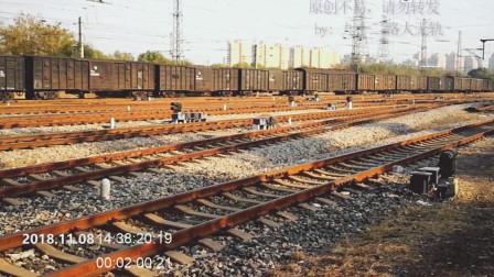 固定重联的和谐电2机车牵引货列,从天津南仓编组站发车
